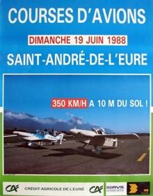 Affiche courses d'avion
