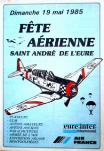 affiche fête aérienne mai 1985