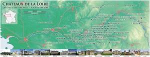 Carte des châteaux de la Loire.